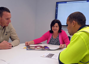 wirra hub clients at a meeting discussion