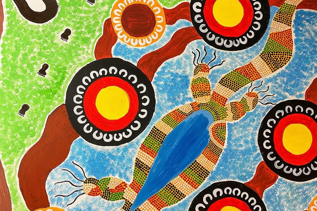 Aboriginal artwork by CDP participants