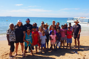 onslow kids and mentors on thevenard island